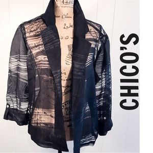 CHICOS VINTAGE 80s Sheer Cocktail Jacket 3